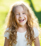 Laughing girl at summer Royalty Free Stock Photography