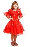 Laughing girl wearing holiday dress Stock Photo