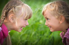 Laughing girls Royalty Free Stock Photos