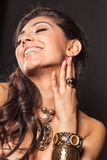Laughing gorgeous woman Stock Photo