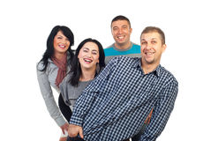 Laughing group of people stock photo