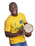 Laughing guy from Brazil loves samba Stock Photography