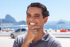 Laughing guy at Rio de Janeiro Stock Photo