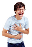 Laughing guy Royalty Free Stock Photography