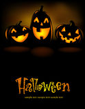 Laughing Halloween lanterns Stock Images