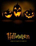 Laughing Halloween lanterns Stock Images