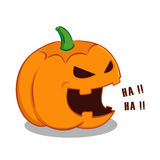 Laughing Halloween Pumpkin Stock Photography