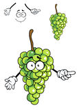 Laughing happy bunch of green cartoon grapes Stock Images