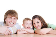 Laughing happy family with their little son Royalty Free Stock Images
