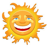 Laughing happy sun Royalty Free Stock Images