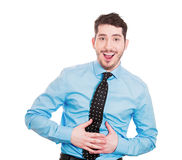 Laughing so hard stomach hurts Stock Photo