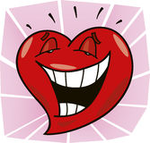 Laughing heart Royalty Free Stock Photography