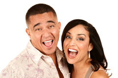 Laughing Hispanic Couple Royalty Free Stock Image