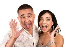 Laughing Hispanic Couple Royalty Free Stock Photography