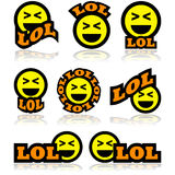 Laughing icons Royalty Free Stock Images