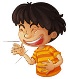 Laughing. Illustration of a boy laughing Royalty Free Stock Images