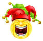 Laughing Jester Emoticon Emoji Stock Images