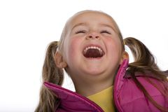 Laughing kid. Isolated on white Stock Photo