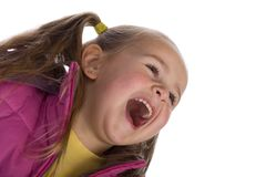 Laughing kid. Isolated on white Stock Photography