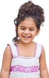 Laughing kid girl. A kid girl is laughing innocently Royalty Free Stock Photo