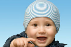 Laughing kid Stock Images