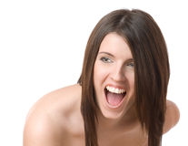 Laughing lady Stock Photography