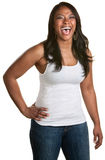 Laughing Lady with Hand on Hip Stock Photography