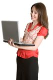 Laughing Laptop Woman Royalty Free Stock Photo