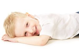 Laughing little boy Stock Image