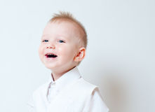 Laughing a little boy Royalty Free Stock Images