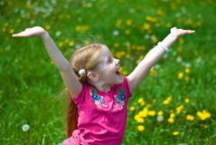 Free Laughing Little Girl Royalty Free Stock Photo - 14249405