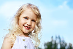 Laughing little girl Stock Photos