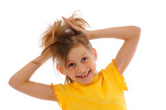 Laughing little girl Stock Photo