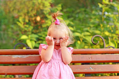 Laughing little girl Royalty Free Stock Image