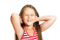 Laughing little girl Stock Photography