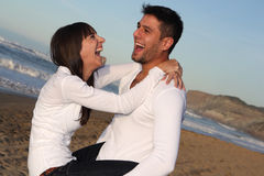 Laughing lovers. Stock Image