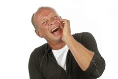 Laughing man Royalty Free Stock Photos