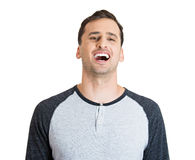 Laughing man Stock Photography