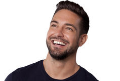 Laughing man. Handsome laughing man, a horizontal portrait royalty free stock images