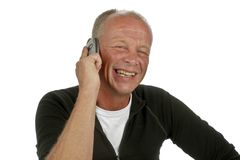 Laughing man on the phone Royalty Free Stock Photo