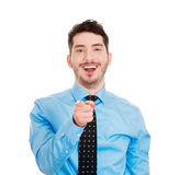 Laughing man pointing Royalty Free Stock Photos