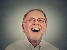laughing man senior Στοκ εικόνες με δικαίωμα ελεύθερης χρήσης