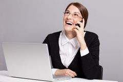 Laughing manager Royalty Free Stock Images