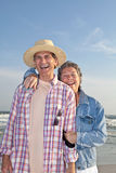 Laughing Mature Couple at the Beach Stock Photos