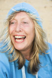 Laughing mature woman. Royalty Free Stock Photos