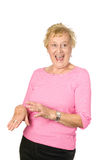 Laughing mature woman Royalty Free Stock Photography