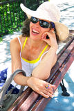 Laughing Mature Woman Stock Images