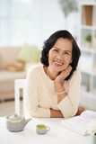 Laughing mature woman Royalty Free Stock Photos