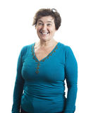 Laughing mature woman Stock Photo