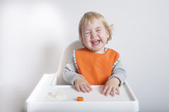 Laughing in meal Royalty Free Stock Photo